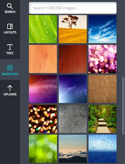 optional: Hintergrund auswählen und Fotos kaufen