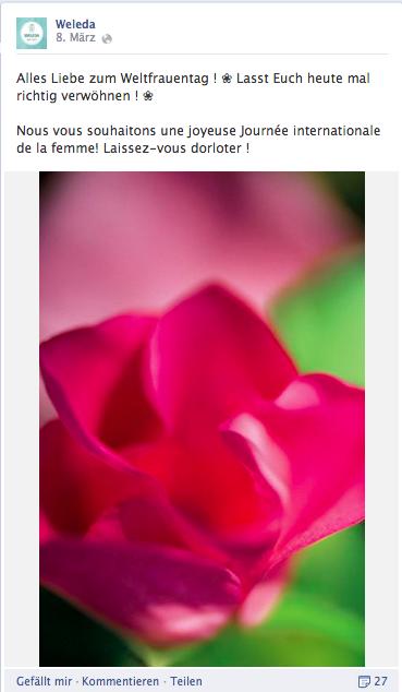Weleda verzichtet auf das Branding zum Frauentag.