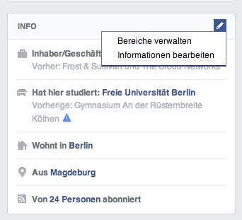 facebook profil seite link