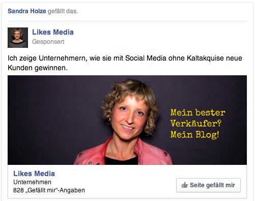 Facebook likes Ad
