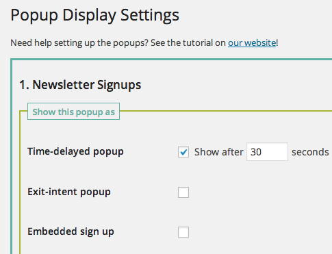 email-newsletter popup
