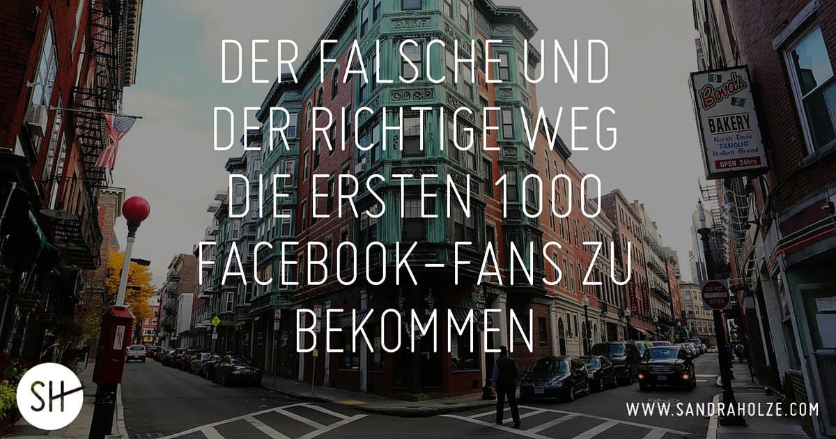Wie Du Deine Ersten 1000 Facebook Fans Bekommen Kannst