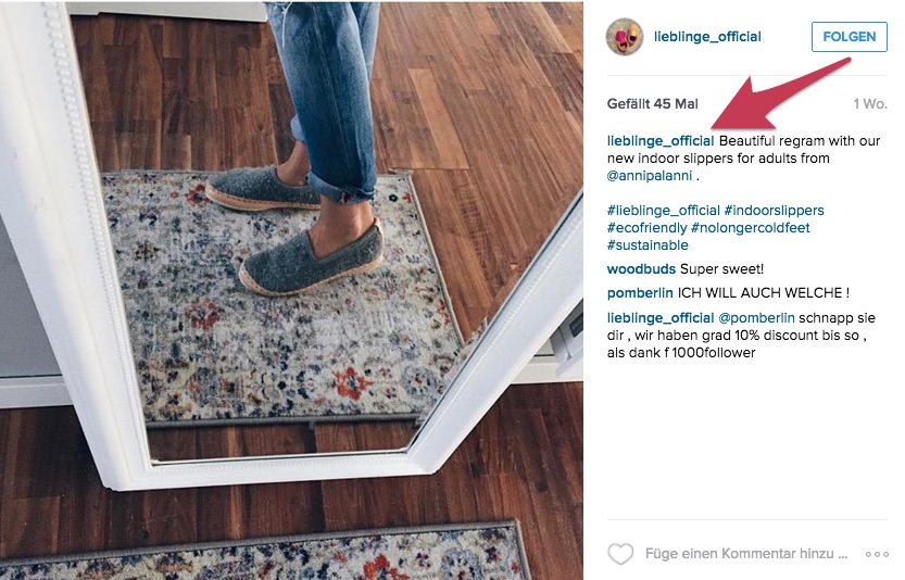 instagram kunden zeigen