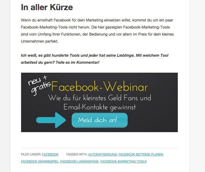 Sandra Holze - Im Post Anzeige