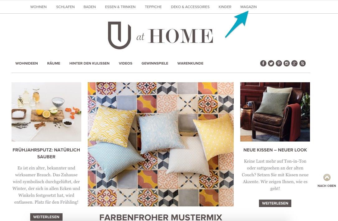 Urbanaras Blog ist ein Kundenmagazin mit relevanten Rubriken.