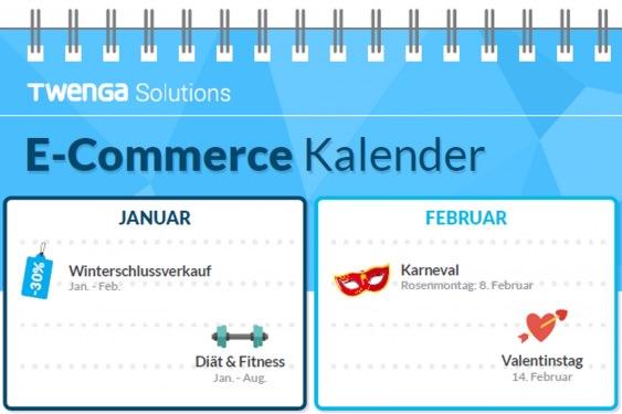 Im E-Commerce-Kalender von Twenga findest du saisonale Aufhänger für dein Email-Marketing