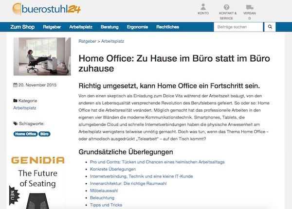 Buerostuhl24.de gibt Expertentipps zu allen Themen rund ums Büro.