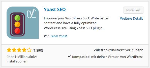 Häufige Updates - Yoast WordPress SEO