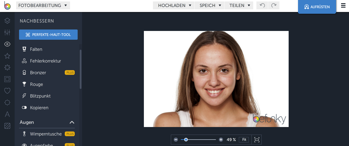 Befunky Gesichtkorrektur
