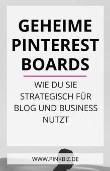 Geheimes Pinterest Board