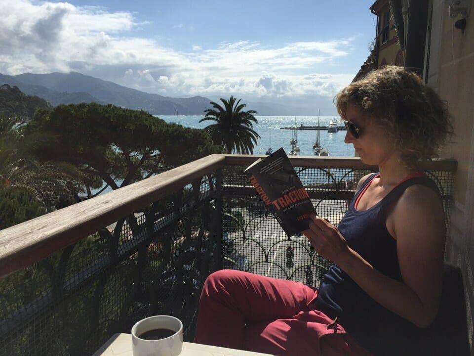 Sandra im Italienurlaub