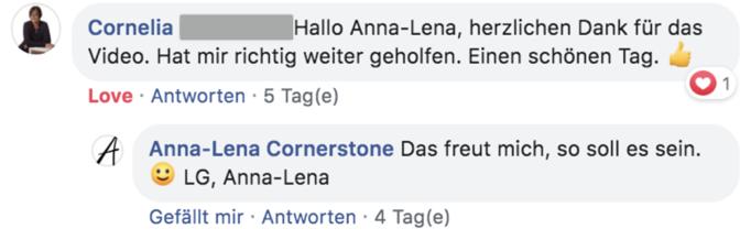 Testimonial zur Ads-Formel von Cornelia
